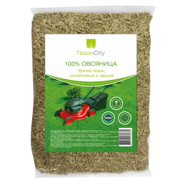 семена газонной травы Овсяница 100% 0,3 кг
