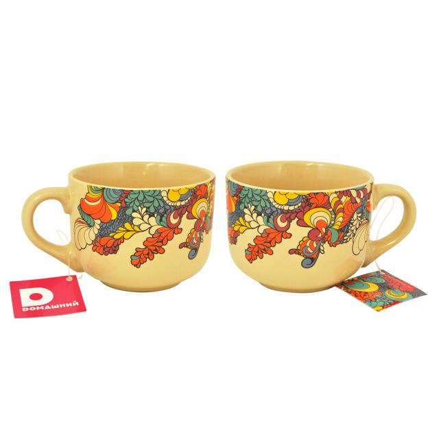 чашка-джамбо Домашний 500мл 9см керамика