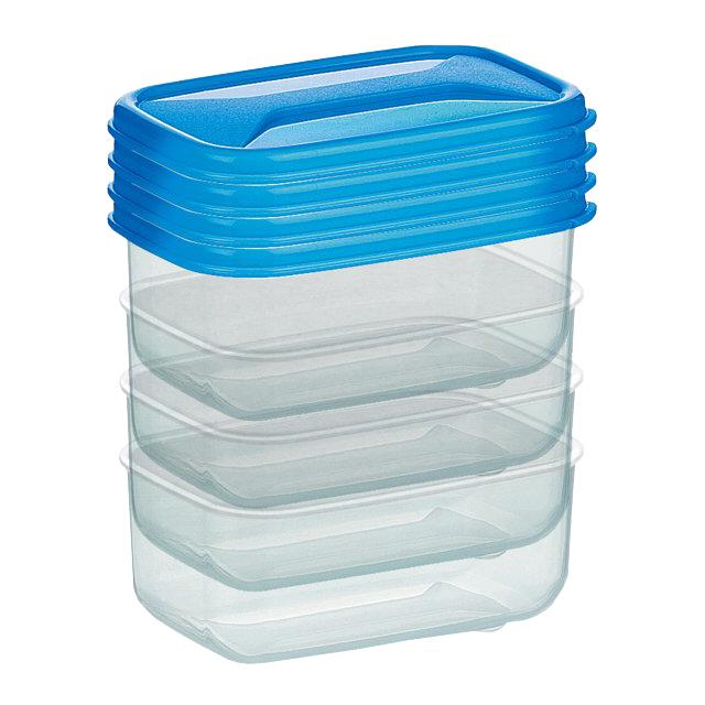 набор мини-контейнеров COSMOPLAST, 4 шт, пластик