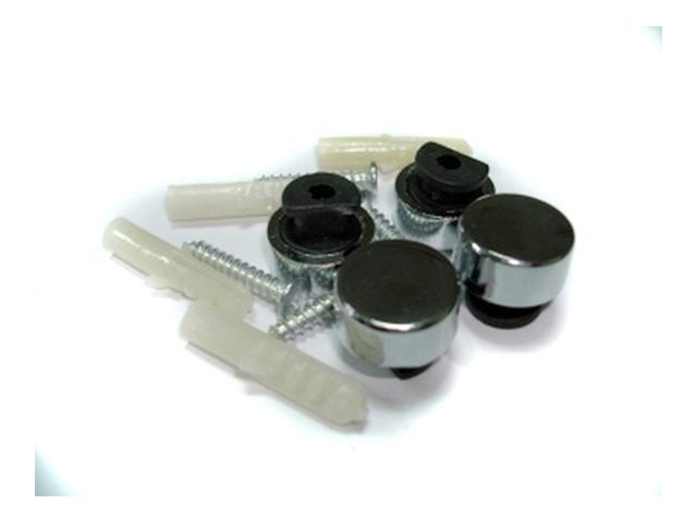 крепление для зеркал, пластик, хром, 20 мм, 4 шт
