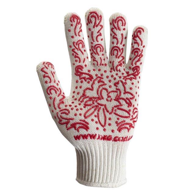 перчатки х/б с ПВХ нанесением Цветы 13 кл., 6 нитей, 10 р-р перчатки латексные русский инструмент 67724 х б 13 класс