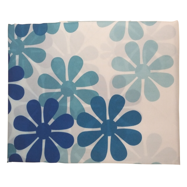 занавеска для ванной OFELIS Цветочки 180х180 см, полиэстер, синяя