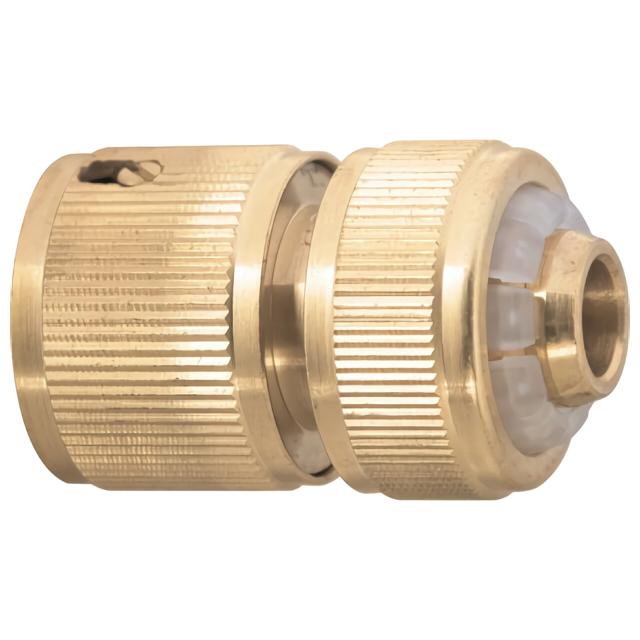 Фото - соединитель быстросъемный для шланга Palisad латунь 1/2 соединитель для полива palisad латунный быстросъемный аквастоп 66265