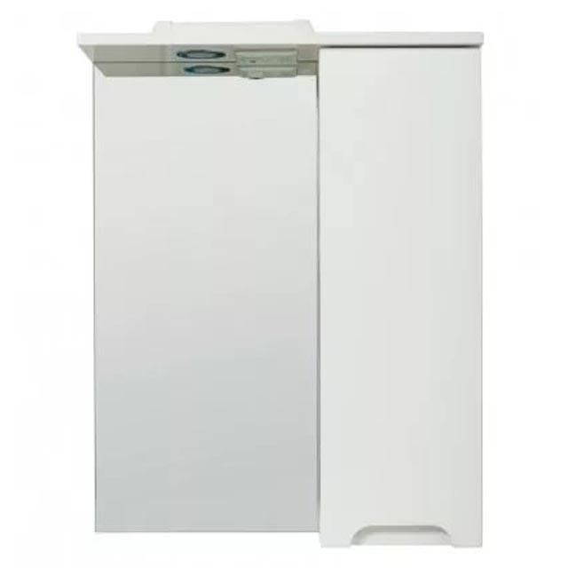 шкаф зеркальный TOPLINE Rio 60х70см правый белый