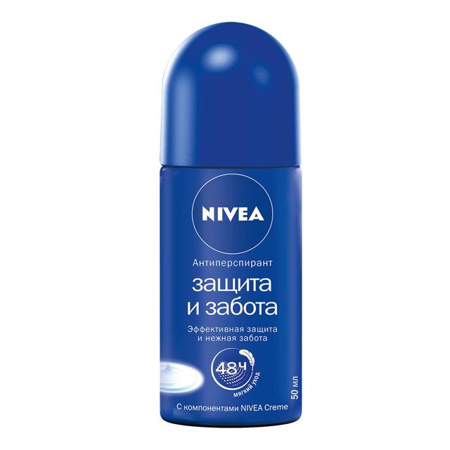 дезодорант NIVEA Защита и Забота 50мл ролик женский nivea nivea антиперспирант стик защита и забота 40 мл