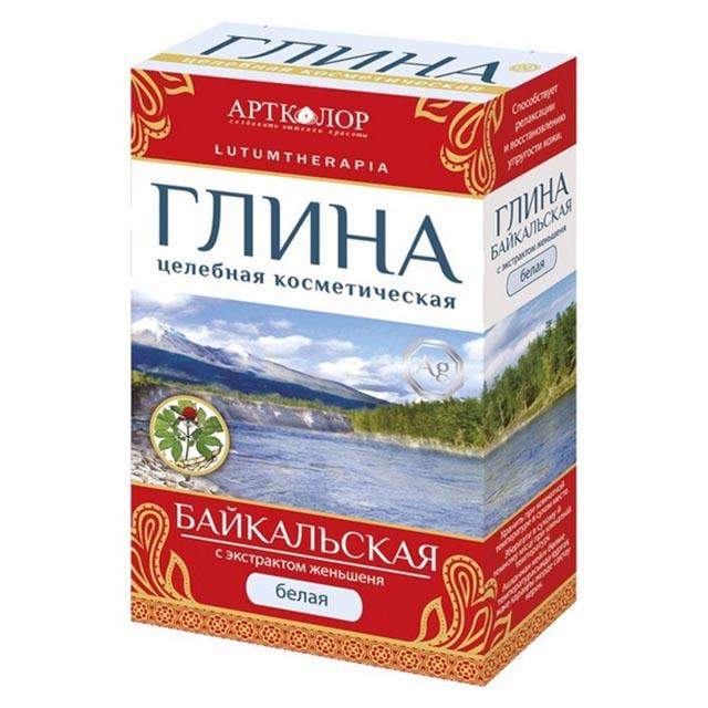 глина белая косметическая LUTUMTHERAPIA Байкальская: С экстрактом женьшеня, 100 г