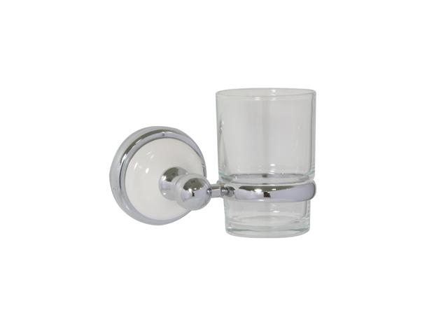 стакан для зубных щеток AXENTIA Lyon Premium нержавеющая сталь/ керамика