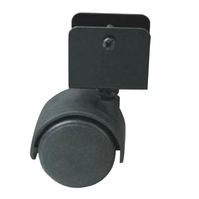 колесо поворотное U-образное, 50 мм, для ДСП 16 мм, пластик