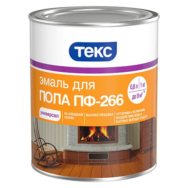 цена на эмаль ТЕКС ПФ-266 Универсал д/пола 1кг желто-кор.
