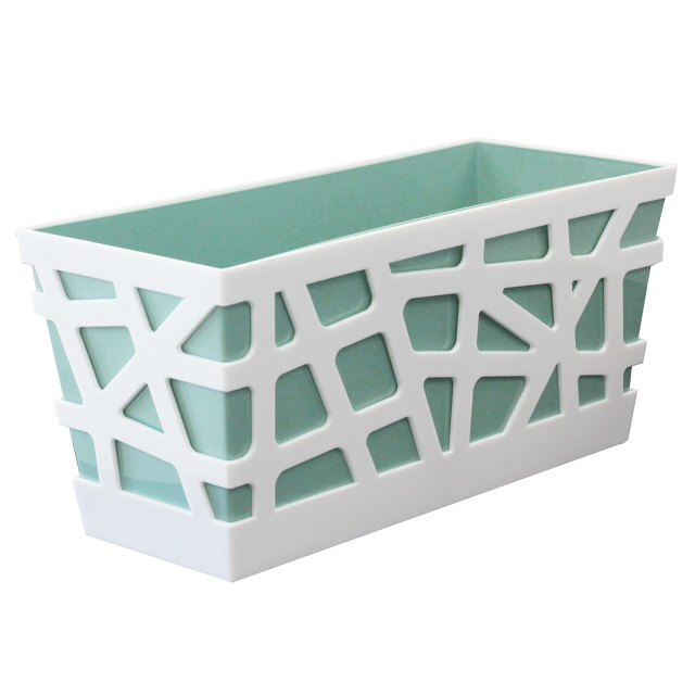купить ящик балконный Мозаика 40,5х17х18,5см пластик фисташковый дешево