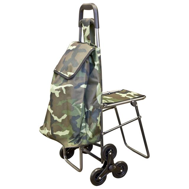 тележка с сумкой C302 грузопод.50 кг обручи тройные на привязку