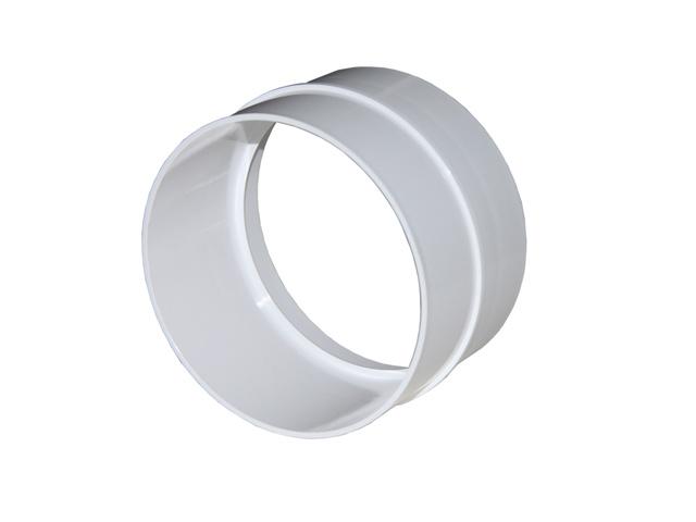 соединитель ЭРА D125мм пластик белый