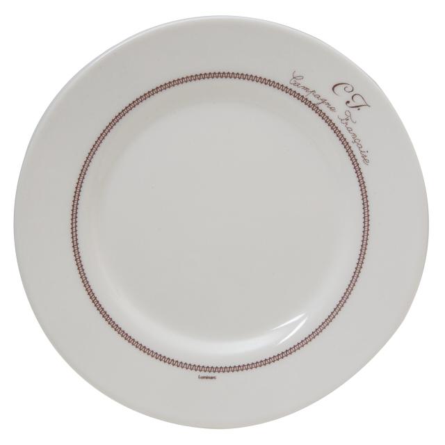 тарелка LUMINARC Бродери 19см десертная стекло тарелка luminarc роз помпон 19см десертная стекло