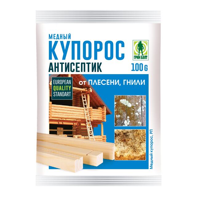 средство защитное Медный купорос 100г медный купорос грин бэлт 100 гр