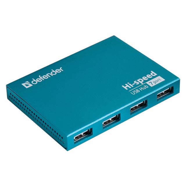 разветвитель DEFENDER USB сSlim USB2.0 7портов блок питания2A