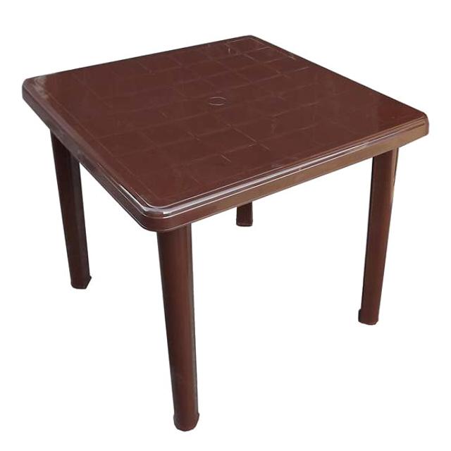стол пластиковый квадратный 80х80х71см шоколад