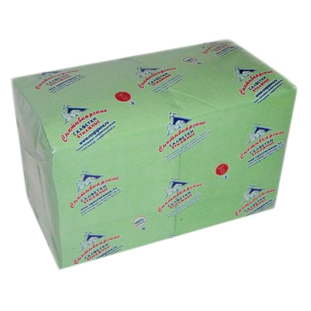 салфетки Салатовые 1-слойные 24х24см 400шт