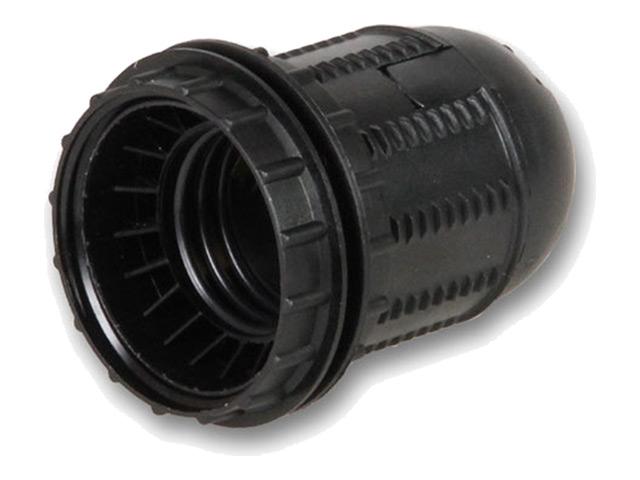 патрон Е27 подвесной с резьбовой втулкой без кольца черный