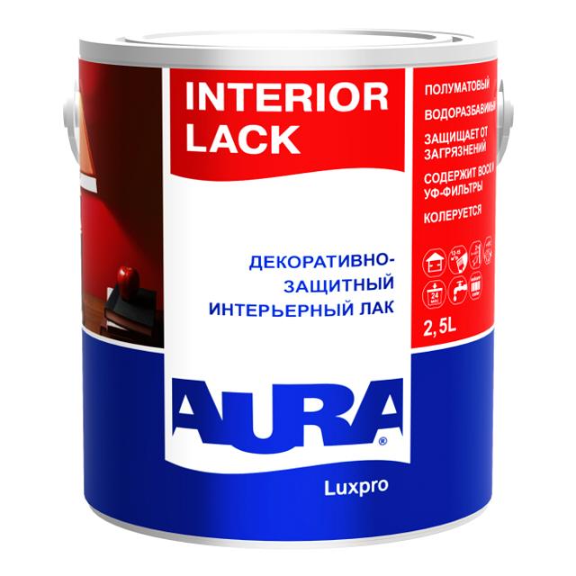 цена на лак акриловый AURA Interior Lack 2,5л полуматовый, арт.4607003910754