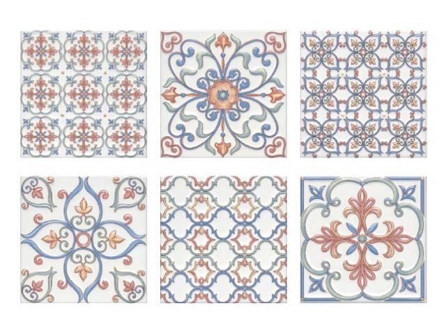 купить плитка настенная 20х20 СУРРЕЙ орнамент, цветной по цене 668 рублей