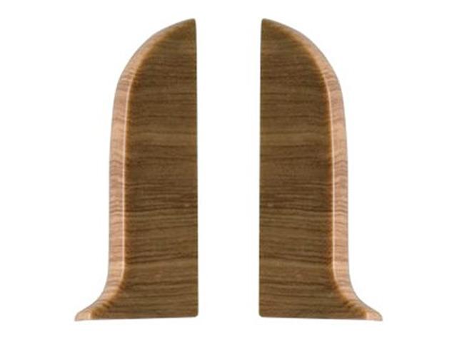 Фото - заглушки для плинтуса ПВХ SALAG NGF 56мм Дуб античный левая+правая заглушки для плинтуса пвх salag ngf 56мм дуб каньон левая правая