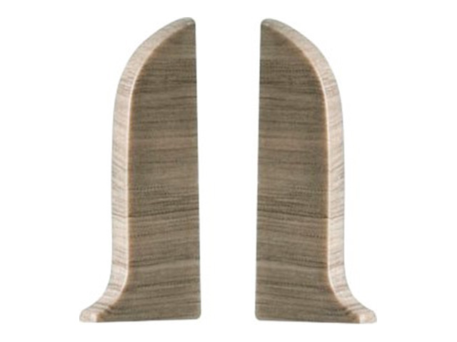 Фото - заглушки для плинтуса ПВХ SALAG NGF 56мм Дуб альзас левая+правая заглушки для плинтуса пвх salag ngf 56мм дуб каньон левая правая
