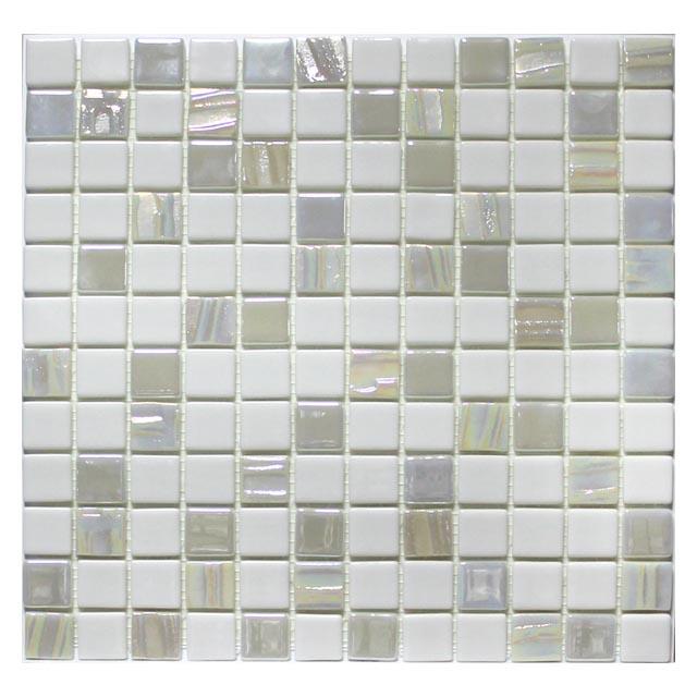 мозаика стеклянная 31,7х31,7х0,4 Astro Blanco, белая