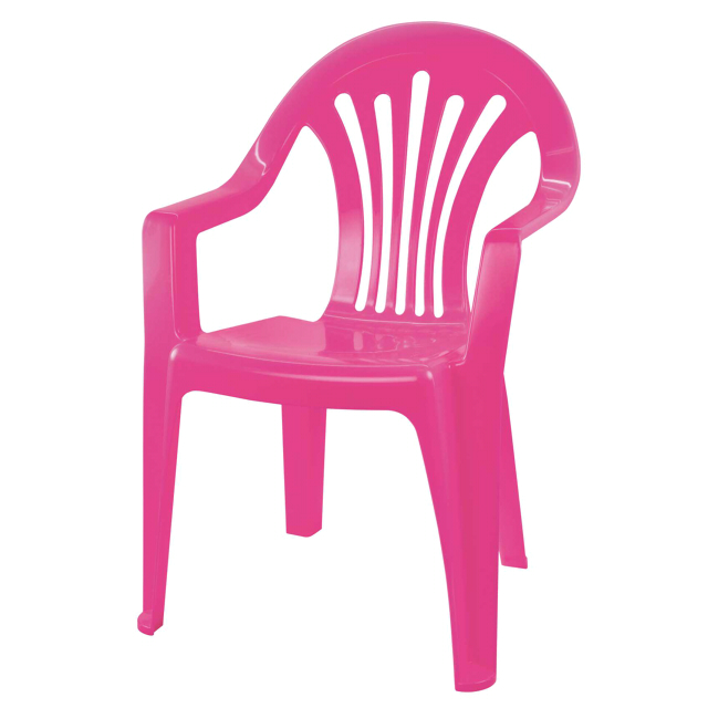 кресло пластиковое детское 37х35х57см розовый