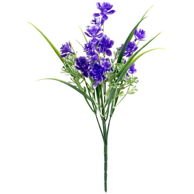 растение искусственное Дельфиниум синий 34см