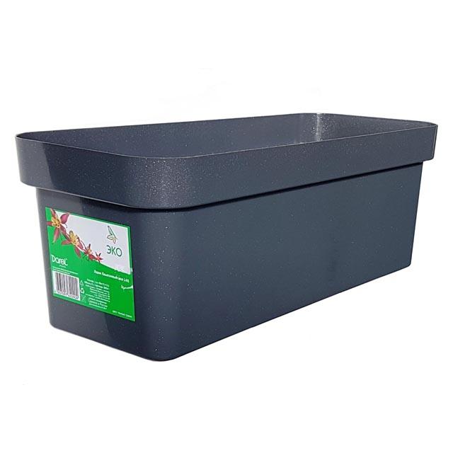 ящик балконный ЭКО 40см пластик темный гранит